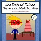 100 Days of School Math and Literacy Activities is a packet of 40 pages with a focus on math and literacy skills.  All pages follow the theme of th...