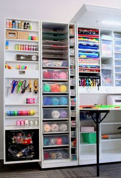 The Original Scrapbox WorkBox storage solution is perfect for all your crafting needs. Store everything in one convenient and stylish storage unit. Home Office Organization, Organizing Your Home, Craft Organization, Sewing Room Design, Sewing Rooms, Small Craft Rooms, Gifts For A Baker, Space Crafts, Craft Space