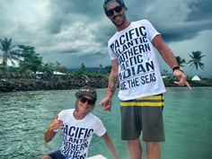 CMNTY Clothing making waves all over the world. Here we have Aussie and Kiwi surf guides rocking the steez in Samoa #aussie #kiwi #samoa #surf #trip #boat #shaka #cmnty cmntyclothing.com