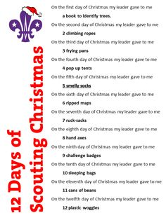 Scout 12 Days of Christmas