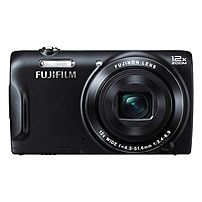 "Fujifilm FinePix T550 16 Megapixel Compact Camera - Black - 3"" LCD - 16:9 - 12x Optical Zoom - 2x - Optical (IS) - 4608 x 3440 Image - 1280 x 720 Video - PictBridge - HD Movie Mode"