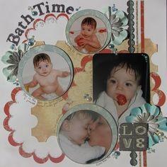 Baby's Bathtime Scrapbook Page