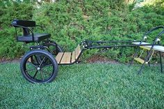 New+Easy+Entry+Horse+Cart-Mini+Size+Wooden+Floor+w/Motorcycle+Tires+#KSSwwwdotkingstonsaddlerycom