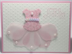 images stampinup cards | Happy Birthday Handmade TuTu Stampin Up Card by BeingACreativeMom
