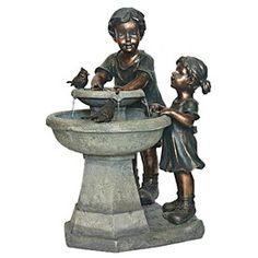 Garden Treasures Antique 2 Tier IndoorOutdoor Fountain with Pump