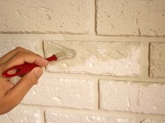 Parede_Tijolinho_Isopor Styrofoam Crafts, Faux Brick Walls, Creative Box, Faux Stone, Decoration, Interior Design Living Room, Wall Design, Christmas Diy, Diy And Crafts
