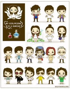 Gumiho cute characters design by SaMtRoNiKa #character - More Character Designs at Stylendesigns.com!