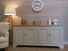 New Huge Solid Pine Sideboard Kitchen Unit Shabby Chic Painted Furniture F&Ball Shabby Chic Sideboard, Sideboard Modern, Kitchen Sideboard, Sideboard Table, Shabby Chic Kitchen, Shabby Chic Furniture, Dining Furniture, Shabby Chic Decor, Furniture Makeover
