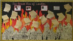 A super The Great Fire of London classroom display photo contribution. Great ideas for your classroom! Teaching Displays, Class Displays, School Displays, Classroom Displays, Photo Displays, Year 2 Classroom, History Classroom, Classroom Ideas, The Fire Of London