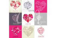 Check out Card Set of 9 Heart Designs,clip art by GraphicMarket on Creative Market Blog Design, Free Design, Heart Hands Drawing, Business Illustration, Environmental Graphics, Heart Cards, Scrapbook Stickers, Heart Designs, Watercolor Cards