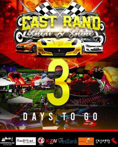 Just 3 more days to go! Get ready to be Wowed! Car Show, Used Cars, Wands, To Go, Comic Books, Comics, Day, Cover, Drawing Cartoons