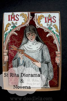 St. Rita of Casia {with an extra!} -  ::We are excited to feature Celeste from Doodle La again!  This time she will be showing us how to put together a wonderful St. Rita of Casia diorama::