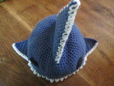 Shark crochet hat, kids hat