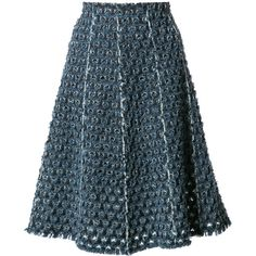 Sonia Rykiel Laser Cut Denim Skirt ($720) ❤ liked on Polyvore featuring skirts, denim daze, kirna zabete, kzloves, sonia rykiel, laser cut skirt, blue skirt, denim skirt and sonia rykiel skirt