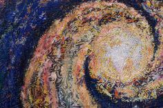 Hilde van Schaardenburg and Sandra Marcum: Celestial Fireworks, Detail (Two Person Quilts) The Festival of Quilts 2015