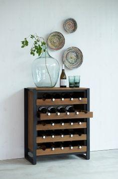 d-Bodhi Wijndressoir Fendy – Woonwinkel de Spindel Wine Rack Design, Pure Products, Storage, Wood, Interior, House, Furniture, Home Decor, Purse Storage