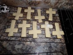 Cross cookies for Catholic Sacrament parties, cross sugar cookies, First Communion cookies, see blog