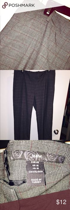 H&M dress pants I bought them on here and they do not fit me. My loss is your gain. Do not buy them if you're tall :) offers accepted on most of my items, the more you buy the cheaper they'll be! H&M Pants Trousers