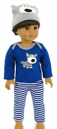 "Holiday Stocking Long Sleeve T-Shirt Fits 18/"" American Girl Doll"