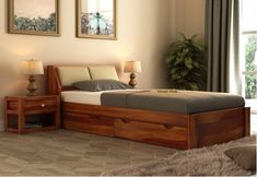 Wooden Single Bed: Buy Single Bed online from unique designs of Sheesham wooden single beds at discounted price. Shop solid wood single bed with storage or without Upto 55% OFF. #Bed, #Beds, #BedOnline, #WoodenBed, #BedsOnline, #BedsOnlineIndia, #BuyBedOnline, #SolidWoodBeds, #SheeshamWoodBed, #BedsWithStorage, #ModernBed Latest Wooden Bed Designs, Best Bed Designs, Double Bed Designs, Wood Bed Design, Bedroom Bed Design, Bedroom Furniture Design, Master Bedroom, Bedroom Decor, Bed Without Storage