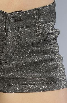 Tripp NYC The Metallic Shine On Short in Black and Silver : Karmaloop.com - Global Concrete Culture