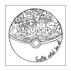 Pokemon Ball Coloring Page . 18 Luxury Pokemon Ball Coloring Page . Pokemon Ball Coloring Page Moon Coloring Pages, Mandala Coloring Pages, Printable Coloring Pages, Adult Coloring Pages, Coloring Books, Colouring, Pokemon Coloring Sheets, Pikachu Coloring Page, Mandala Pokémon