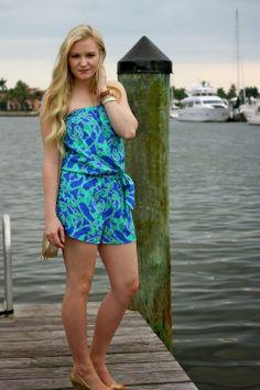 09b97b74d1e  Devon Alana Design looking gorgeous in  Lilly Pulitzer Romper