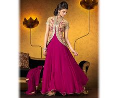 New Indian Jacket Style Dresses Anarkali Suits 2016-2017 Collection | StylesGap.com
