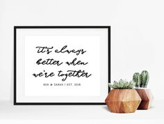 Personalized Wedding Song Poster Jack Johnson Better Together Always When Were Anniversary Gift Decor