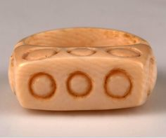 Africa | Ring from the Mangbetu people of Panga, Congo (Belgian Congo) | Ivory | ca. 1915