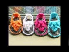 Tutorial How to Crochet Crocodile Baby Sandals By, Havoc Mayhem Creations - YouTube
