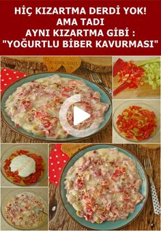 How to Make the Most Delicious Yogurt Pepper Roaster? We explained the preparation of the Yogurt Pepper Roasting recipe, which you can easily make, step by step. We are sure that when you make our Yogurt Pepper Roast recipe, you will also like it. #yemek #pratikyemek Best Cheeseburger Recipe, Cheeseburger Chowder, Feta Salad, Roasted Peppers, Roast Recipes, How To Make Salad, Fresh Herbs, Yummy Food, Stuffed Peppers