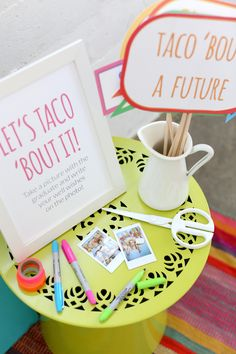 Have guests takes photos with the graduate and write their wishes for a bright future on the pics. Taco 'bout a future!