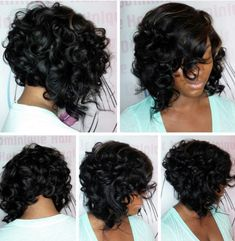 Sexy curly bob @hairartbydominique - Black Hair Information Community