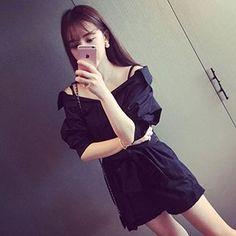 在YesStyle.com 購買 'HL哈嘍妹妹 品牌 – 七分袖蝴蝶結飾連衣裙', 多買符合優惠的 中國 產品,即可享受免郵費快遞服務!