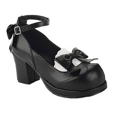 GOBLIN-07 Ankle Strap Tuxedo Shoes
