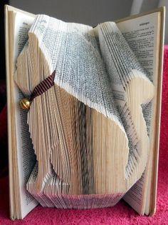 patron gratuit pour r aliser un livre pli chat d co recyclage pinterest livres plies. Black Bedroom Furniture Sets. Home Design Ideas