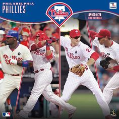 Celebrate America's national pastime every day of the year with a vibrant, fully loaded, action-packed wall calendar featuring your favorite MLB team! The 2013 Philadelphia Phillies wall calendar delivers everything the ultimate fan could want with player bios, team trivia and noteworthy historical MLB dates listed each month!  $15.99  http://calendars.com/Philadelphia-Phillies/Philadelphia-Phillies-2013-Wall-Calendar/prod201300001119/?categoryId=cat00436=cat00436#