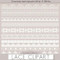 Clipart white lace borders clip art lace lace by 1burlapandlace, $4.99