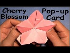 Fold Origami Cherry Blossom Pop-Up Card by Jeremy Shafer - YouTube