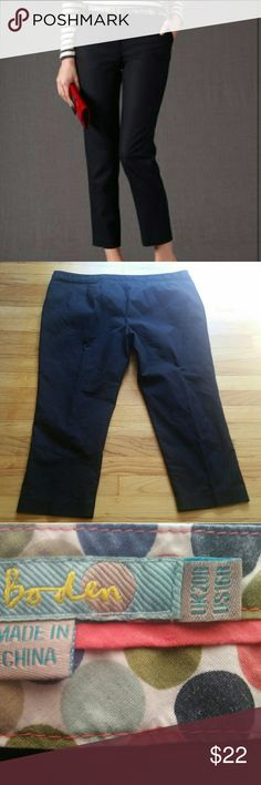 Boden Sz 16 black 7/8 ankle pants Unfortunately I have to reposh these lovely pants because they are too big for me. Measurements in photos. Good used condition. These came to me used and I think they have some slight wash wear, but no holes, rips, stains, or any such imperfections. Boden Pants Capris