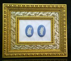 Wedgwood Jasperware Pair of Muses each with a Lyre Framed