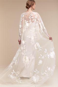 BHLDN Rhiannon Cape & Monroe Gown in  Bride Bridal Separates | BHLDN