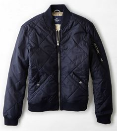 AEO Quilted Bomber Jacket