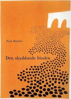 "Olle Eskell's book jacket illustration for the Swedish edition of Paul Bowles' ""The Sheltering Sky"", 1951."
