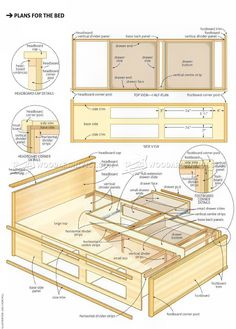 #1306 Bed end Nightstand Plans - Furniture Plans