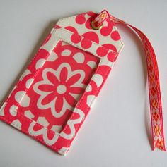 Fabric Luggage Tag made with Amy Butler Fabric by Pamelaquilts, $10.00