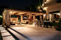 great entertaining patio
