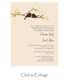 Cute and simple. I like the love bird theme.