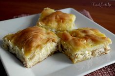 Chicken Pie with Trahana ⋆ Cook Eat Up! Cookie Dough Pie, Georgian Food, Greek Recipes, Pie Dish, Hot Dog Buns, Bakery, Food And Drink, Favorite Recipes, Treats